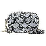 Mode Dame Schlangenmuster Quasten vielseitige Umhängetasche Messenger Bag Crossbody Bag mit Kette Schulterriemen