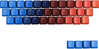 TINTON LIFE Gradient 37 Keys PBT Backlit Keycaps Set for Mechanical Keyboard(Gradient Blue+Red)