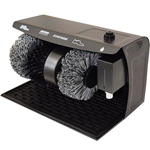 Syntrox Germany Schuhputzmaschine Schuhputzautomat Schuhpoliermaschine mit Gummimatte und 3 Bürsten SPG-120W Shiny