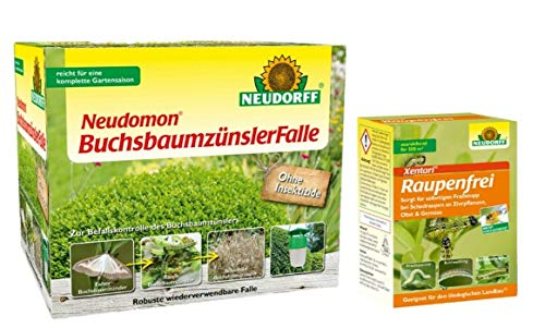 Buchsbaumzünsler Falle Neudomon + 25 g Raupenfrei Xentari + Gratiszugabe 20g Kressesamen Sprint