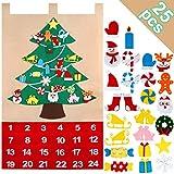OurWarm Christmas Advent Calendar 2020, 24 Days Felt Christmas Tree Advent Calendar Chocolate with Pocket 25 Christmas Ornaments for Xmas Holiday Decorations, 35x24 Inch