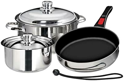 AVGDeals 7-Piece Professional Stainless Steel Cookware | Perfect for Home, Kitchen and Cooking needs