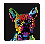 Wall Art Canvas Paintings Wall Decor Colorful Wall Artworks Print For Bedroom Living Room Office Kitchen Decoration Bathroom Home Decor French Bulldog