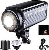 GODOX SL-150W LED Luz Video 150W Foco Led 5600K Gran Potencia Bowens Mount para fotográfico Estudio Video Youtube Video Foto Studio(SL 150W LED Light)