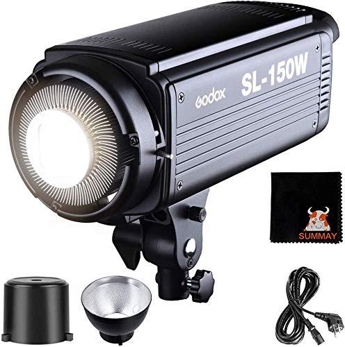 GODOX SL150W Torche Vidéo LED 150W 5600K Haute Puissance avec Télécommande Bowens Monture pour Photo Studio Photographie Video Recording