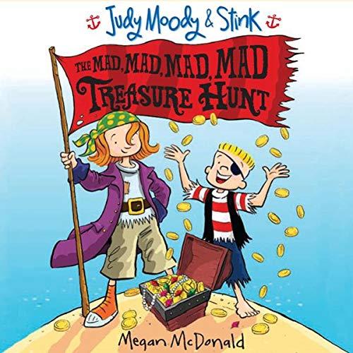 Judy Moody & Stink: The Mad, Mad, Mad, Mad Treasure Hunt audiobook cover art