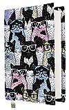 Manta de libro – Manta de libros duros para libros, tela lavable, impermeable, protector de libro – acolchada (Cats II, M)