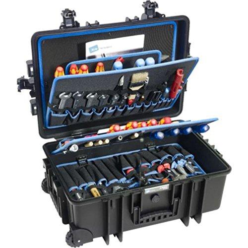 B&W INTERNATIONAL Werkzeugkoffer JUMBO 6700 Fahrbar mit Rollen und Teleskopgriff aus Polypropylen schwarz 554817 (Ohne Werkzeug)