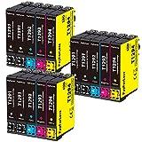 PayForLess T1295 Cartuchos de Tinta para Epson T1291 T1292 T1293 T1294 Compatible con Epson Stylus SX235W SX445W SX425W SX430W SX435W SX535WD BX305FW Plus WF-7515(6 Negro,3 Cian,3 Magenta,3 Amarillo)