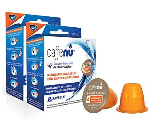 CaffeNu - Kompatible Reinigungskapseln für Ihre Nespresso Maschine (2 Packungen mit 5 Kapseln)