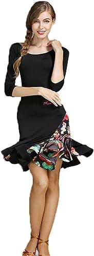 CPDZ Femmes Ballet Robes de Ballet vêtements de Femmes Robes de Fantaisie Bijoux pour Les Adultes Floral Sequin Tank Ballet Justaucorps Maxi Jupe Dancewear,M