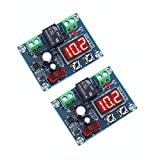 IS ICStation Digital Low Voltage Protector Disconnect Switch Over Discharge Protection Module for 12-34V Lead Acid Lithium Battery (Pack of 2)
