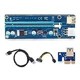 lefeindgdi Tarjeta adaptadora de cable de extensión PCIE dedicada, PCI-E Riser 009S 16X Extender PCI-E Riser USB 3.0 Tarjeta gráfica de operación simple para tarjeta de minería