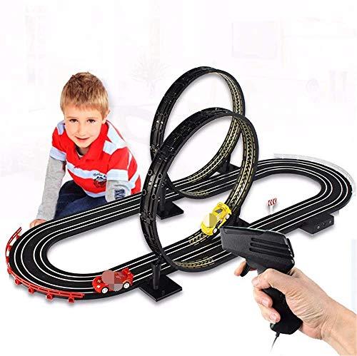 ZIJIAGE RC Spielzeug Rennbahn, 1: 64 Toy Car Track Car elektrische Fernbedienung Track Racing 360 wirbelnde Doppel-Wettbewerb Sport Spielzeug