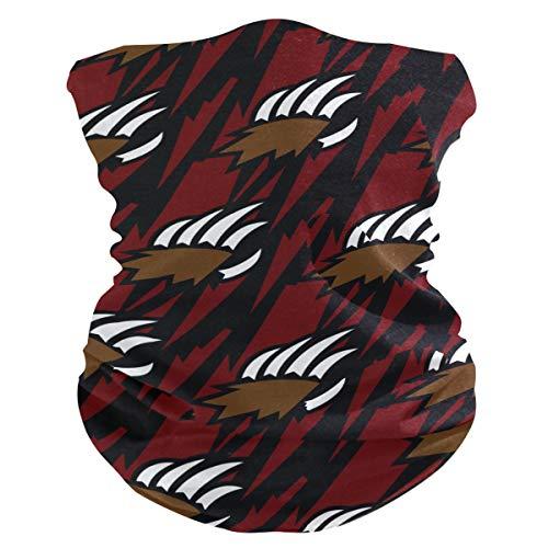 Stoff-Gesichtsmaske für Damen, multifunktional, Bandanas, Schnittmuster, unisex, Grizzly Bär, Tierklaue, bedruckbar, für Herren und Damen, Outdoor-Stirnband, Kopfbedeckung, Gesichtshandtuch, waschbar