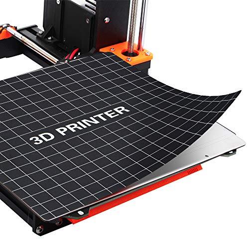 Aibecy 235 * 235mm Impresión 3D Estructura de la superficie Placa de cama Etiqueta de impresión Hoja de cinta de cama para Creality Ender-3 Accesorios de impresora 3D