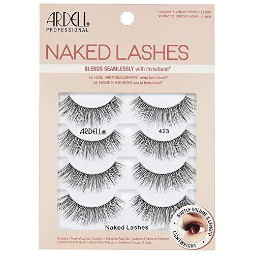 Ardell Naked Lashes Echthaarwimpern, das Original für einen unverkennbaren Look (Style 423 - 4 Pack)