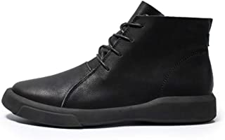Dr. Martin unisex boots Leather high-top boots trendy British wild short boots thick bottom trendy men's leather boots British style leather tooling boots (Color : Black, Size : 43)