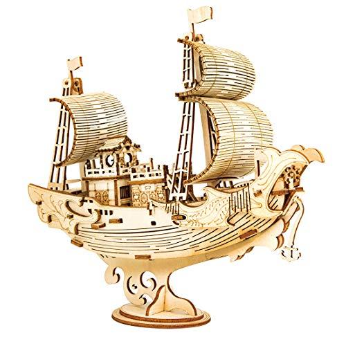 YaKia 3D Puzzle Holz, Diplomatisches Schiff Holzpuzzle Modell Bausatz, Modellbau Bausätze für Teen und Erwachsene