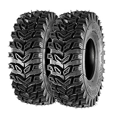 MaxAuto 15x5.00-6 15x5x6 Snow Hog Snow Blower Thrower Tire LRA 2PR, Set of 2