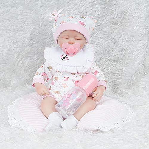 Hongge Reborn Baby Doll,Lebensechte Wiedergeburt Doll Simulation Baby Doll Spielzeug 45cm