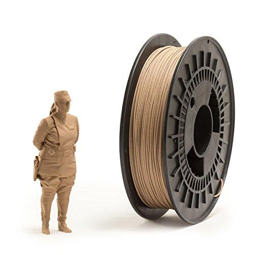 Eumakers FTECD-1D-WOOD Filamento in PLA, 1.75 mm, Legno