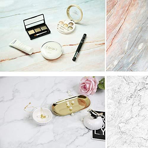 Selens 56x88cm 2 in 1 Hintergrund Helle Farbe Gebrochener Marmor Textur Flatlay Tischplatte Fotografie Doppelseitiger Hintergründe für Gourmet Blogger, Kosmetik, Online Shops Produktfotografie