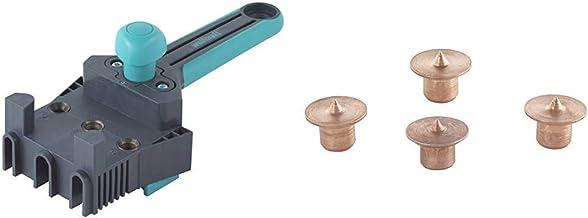 Wolfcraft 4640000 - Maestro guía de ensamblaje de plástico - Ø 6, 8, 10 mm & 2911000-4 marcadores para espigar Ø 6 mm