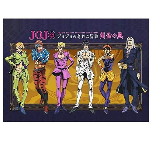 Templom SIX Affiche de Personnage Japonais Anime Suspendu peintures murales Art de Tissu Affiche(JoJo's Bizarre Adventure)