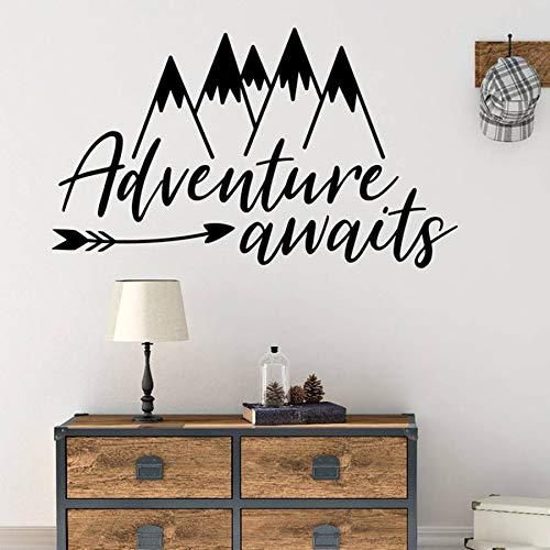 Yaonuli muurtattoo pijl muursticker bergen familie slaapkamer decoratie kleuterschool decoratie avontuur wachttijd kunst