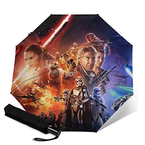 Star War paraguas plegable automático unisex impreso manual paraguas paraguas paraguas portátil