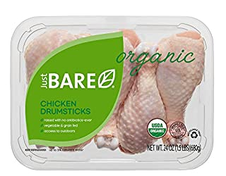 Just BARE Organic Fresh Chicken, Drumsticks, 1.5 lb