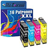 Tito-Express PlatinumSerie 16 Druckerpatronen XXL als Ersatz für Epson T1631 T1632 T1633 T1634 16XL | Für Workforce WF-2630 WF 2650 DWF 2750 DWF 2510 WF 2010 W 2660 DWF WF-2760 DWF