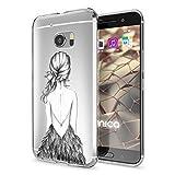 NALIA Handyhülle kompatibel mit HTC 10, Slim Silikon Motiv Hülle Cover Crystal Schutzhülle Dünn Durchsichtig, Etui Handy-Tasche Backcover Transparent Smartphone Bumper, Designs:Bird Princess