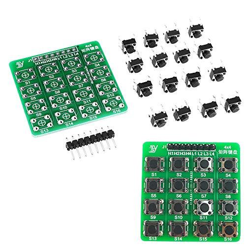 LYYCEU 4x4 Matriz Teclado Tacto Tacto Interruptor táctil MCU Aprendizaje Tablero de Desarrollo Tablero de Desarrollo Fuera del Kit de expansión Módulo electrónico