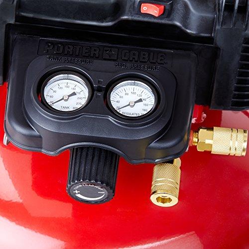 PORTER-CABLE Air Compressor, 6-Gallon, Pancake, Oil-Free (C2002)