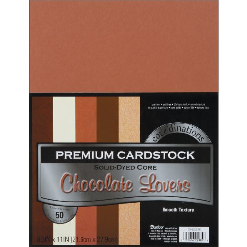 """Core'Dinations Value Pack Smooth Cardstock 8.5""""X11"""" 50/Pkg-Chocolate Lovers"""