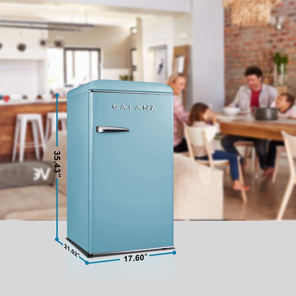 Refrigerators 3.3 Cu.Ft Galanz GLR33MGNR10 Retro Compact ...