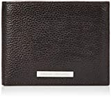 ARMANI EXCHANGE Trifold Credit Card Holder, Portafogli per carte Uomo, Marrone (Dark Brown), 9.4x2.5x12 centimeters (B x H x T)