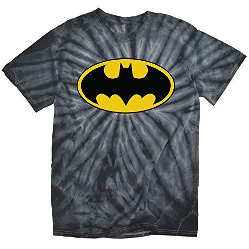 Batman Classic Logo Tie Dye Adult Unisex T Shirt (Medium) Spider Black