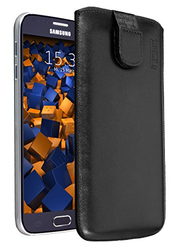 mumbi Flip Cover - Funda para Samsung Galaxy Alpha, Negro