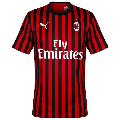 PUMA 2019-2020 AC Milan Authentic Home Football Soccer T-Shirt Jersey