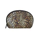 COOSUN - Bolsa de maquillaje con diseño de leopardo para mujer