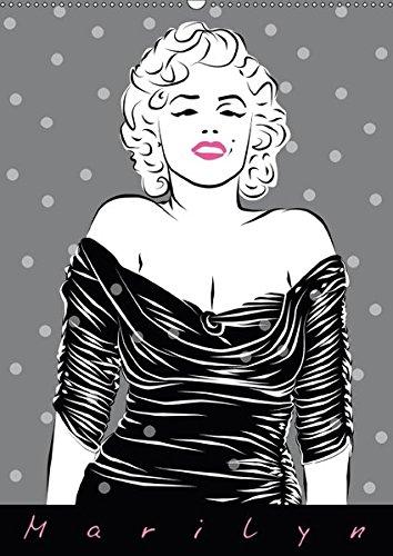 Marilyn (Wandkalender 2018 DIN A2 hoch): Illustrationen von Walter Prestele (Monatskalender, 14 Seiten )