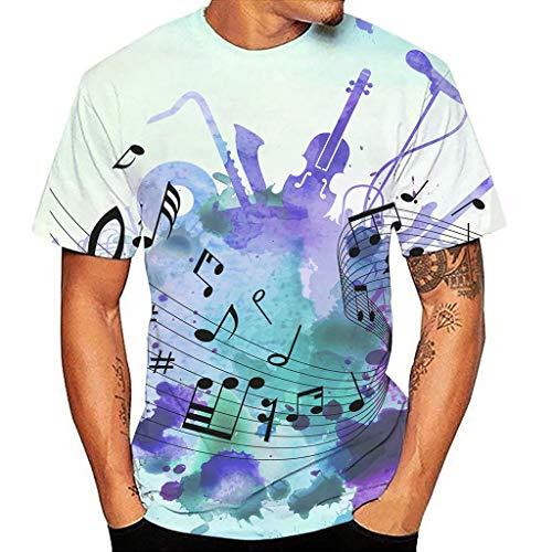 Camisetas Estampada 3D Verano Moda Camiseta de Manga Corta Impresa en