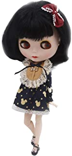 CUTEBEE 1/6 BJD Doll is Similar to Neo Blythe, 4-Color Changing Eyes Matte Face and Ball Jointed Body Dolls, 12 Inch Customized Dolls Can Changed Makeup and Dress DIY