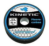 Kinetic Hilo de pesca fluorocarbono, longitud 20 m, color transparente y, por lo tanto, casi invisible, diámetro de 0,22 mm hasta 1,00 mm (20, 1,00 mm – 40,0 kg)
