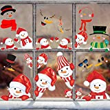 28枚 コミック メリークリスマス 笑顔雪だるま 防水ステッカー セットスーツケースステッカー お気に入りのスーツケース 自転車 ヘルメット パソコン 携帯 ノート