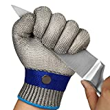 TAIROAD Cut Resistant Glove Level 9 Cutting Glove Stainless Steel Wire Mesh Metal Glove for Kitchen,...