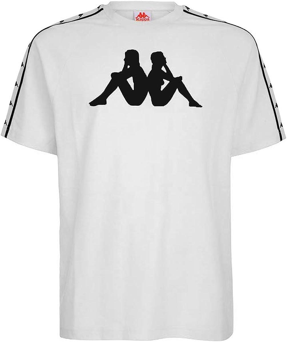 Calumnia menú contenido  Amazon.com: Kappa Men's Authentic T-Shirt, White, XS: Clothing